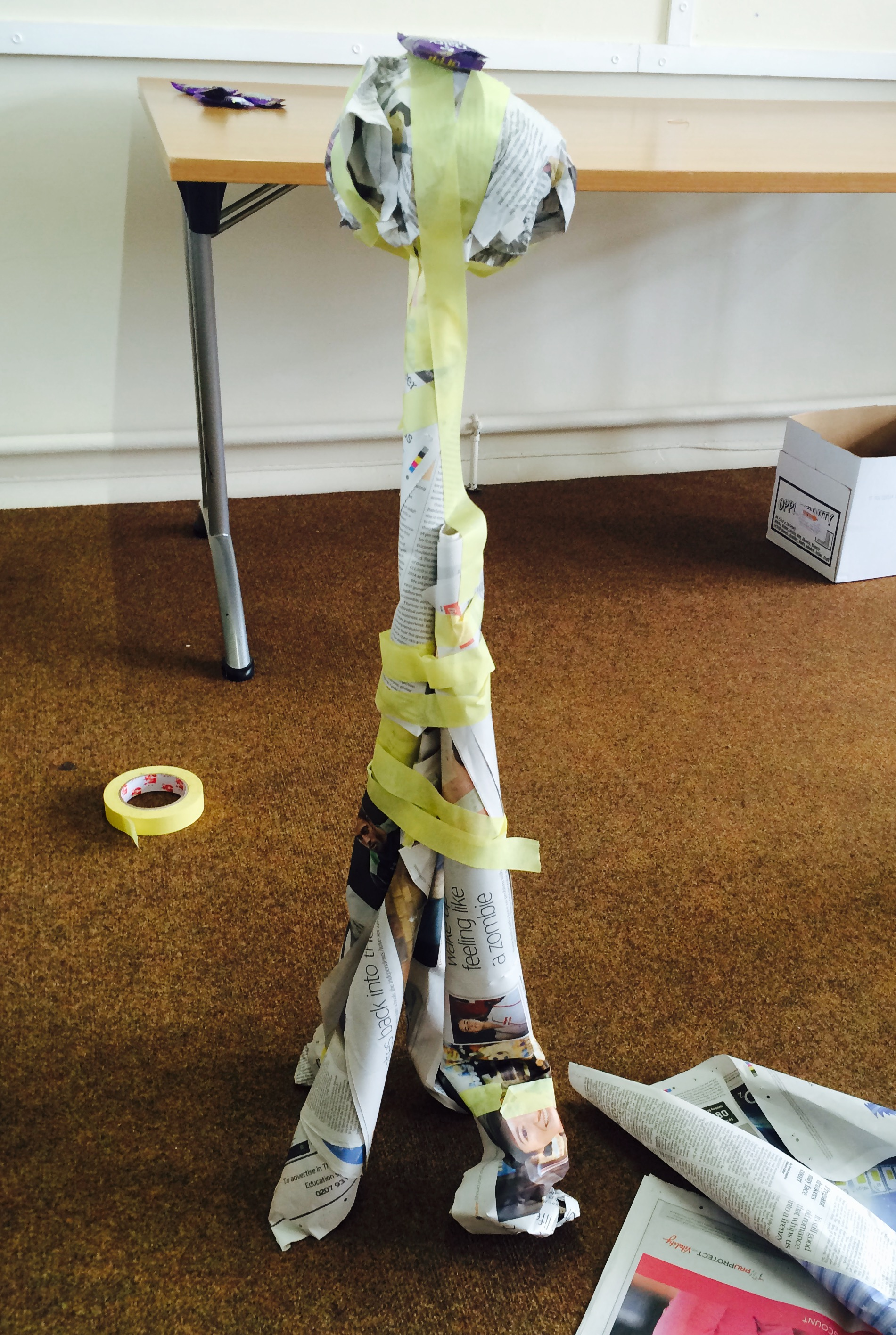 what i learnt from building a tower out of newspaper the learning