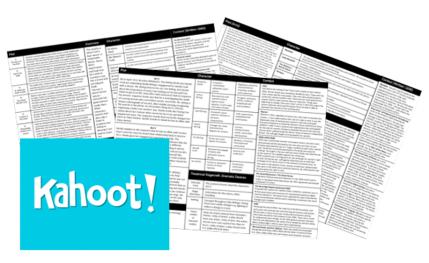 kahoot quizzes on set texts