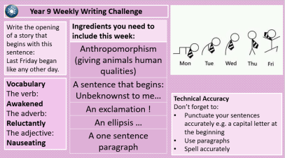 On our Weekly Writing Challenges 2017-18 – The Learning
